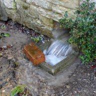 floods close up drains
