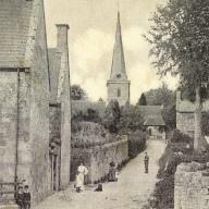Chilmark early pics 1 To Church